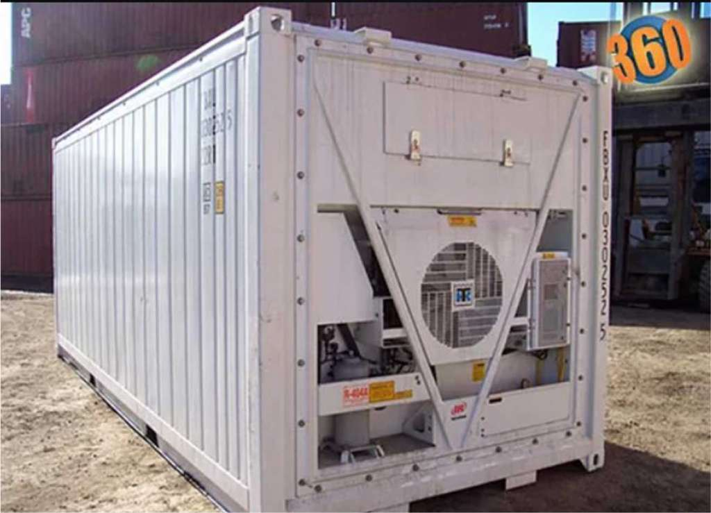 shipping container with cooling system