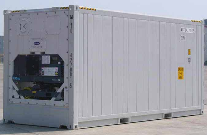 portable shipping container on ground
