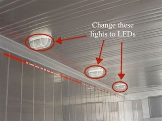 Interior LED lights for storage containers