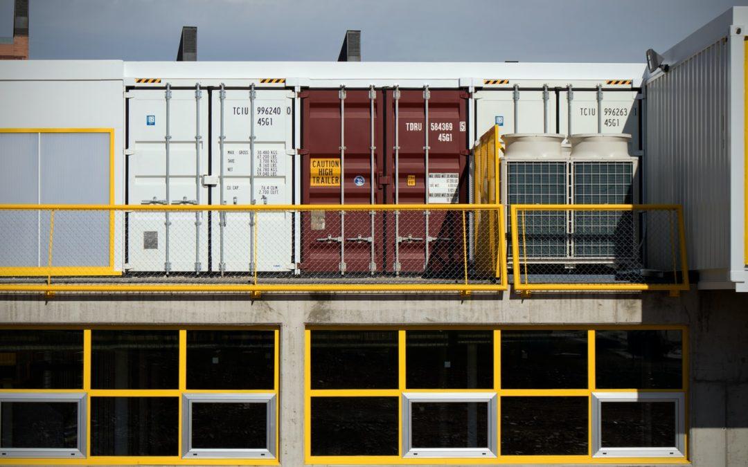 shipping container used as storage locker