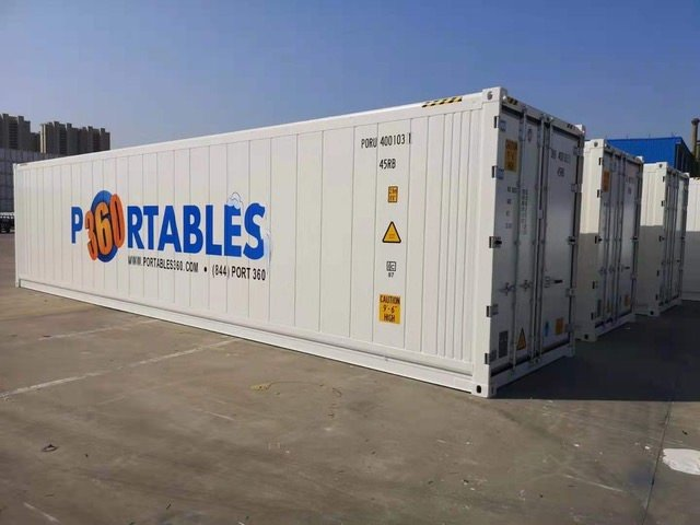 image of a 40' mobile storage trailer for lease or rent
